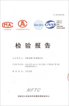 钢质隔热防火门(乙级-1)