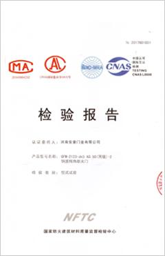 钢质隔热防火门(丙级-2)